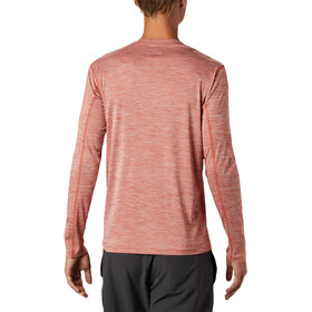 Columbia Zero Rules LS Shirt Men carnelian red heather